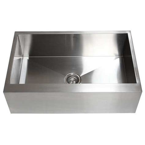 30 Inch Stainless Steel Single Bowl Flat Front Farm Apron