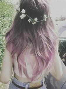 Lavender tips against brown hair | hair | Pinterest ...