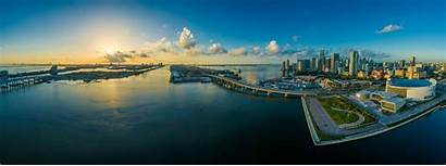 Miami Skyscraper 4k Panorama Florida Usa Water