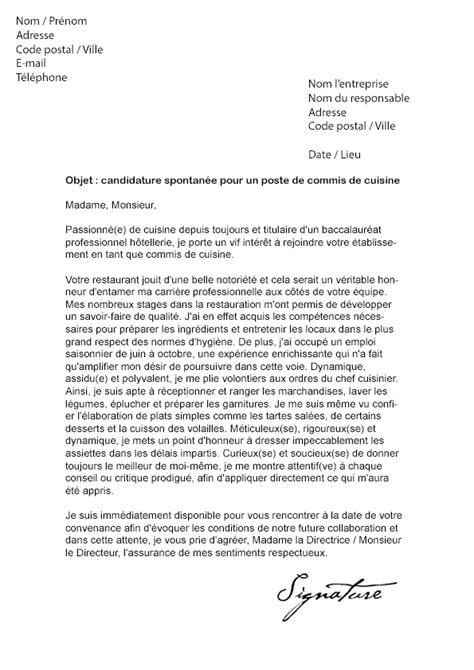 lettre de motivation cap cuisine greta lettre de motivation commis de cuisine modèle de lettre