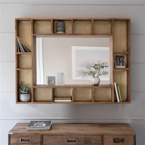 Bedroom Mirrors With Shelf by Pigeonhole Mirror Home Wall Mirror With Shelf Hallway