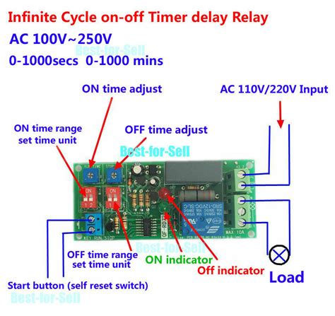 Adjustable Cycle Delay Time Timer Relay