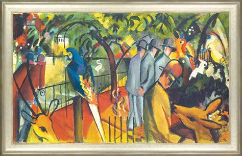"August Macke Bild ""zoologischer Garten I"" (1912), Gerahmt"