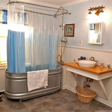 18 best images about stock tank bathtubs on fortune cookie eclectic bathroom and teak