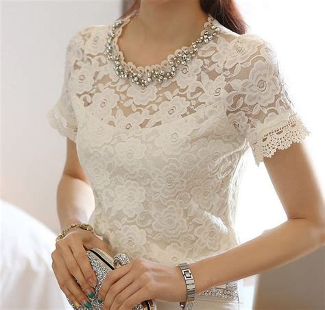 lace blouse white lace sleeve blouse silk blouses
