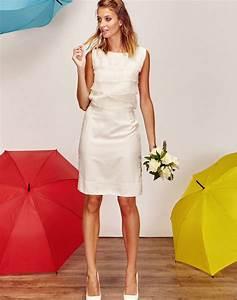 Robe Mariée Courte Pas Cher : robe de mari e tailleur jupe crayon courte blanche avec volant de soie pas cher boutique de ~ Mglfilm.com Idées de Décoration