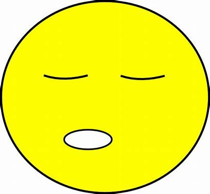 Sleepy Face Smiley Tired Clipart Clip Emoticon