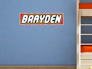 lego style custom name wall decal kids bedroom vinyl wall With lego wall decals