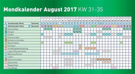 mondkalender garten 2017 pdf mondkalender 2017 august immergr 252 n
