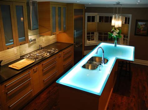 glass kitchen island 15 best images about glowing glass countertops on 1231