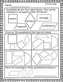 geometry game printable worksheets classifying