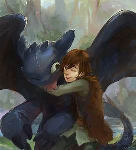 Toothless and Hiccup by lychi on DeviantArt