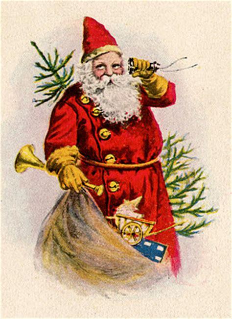 vintage christmas clip art santa  toys