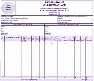 gst invoice format india pdf hardhostinfo With gst invoice format in excel