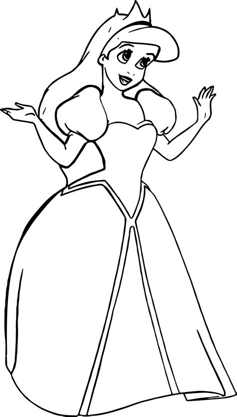 Ariel Coloring Pages Free Download Best Ariel Coloring