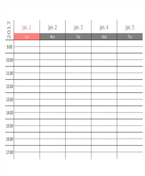 appointment calendar templates  ms word