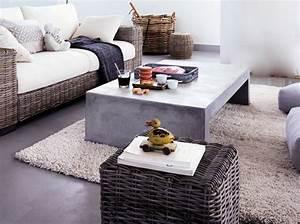 Table Basse En Beton : table basse fly en b ton ~ Farleysfitness.com Idées de Décoration