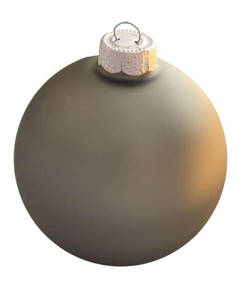 silver smoke glass ball christmas ornament
