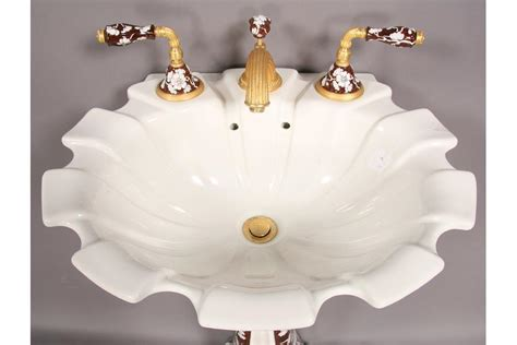 sherle wagner shell sink labeled sherle wagner shell form bathroom sink