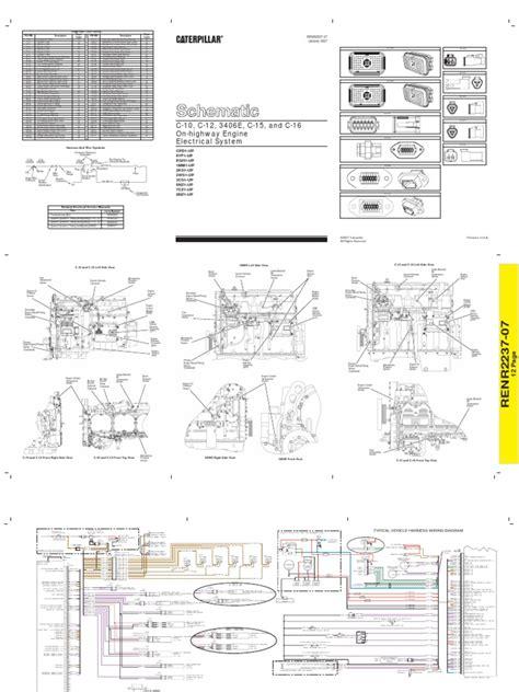 Cat Ecu Wiring Diagram by Diagrama Electrico Caterpillar 3406e C10 C12 C15 C16 2