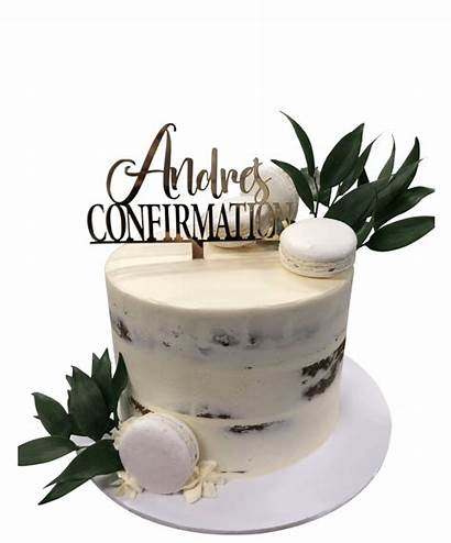 Cake Naked Rustic Semi Baptism Buttercream Confirmation