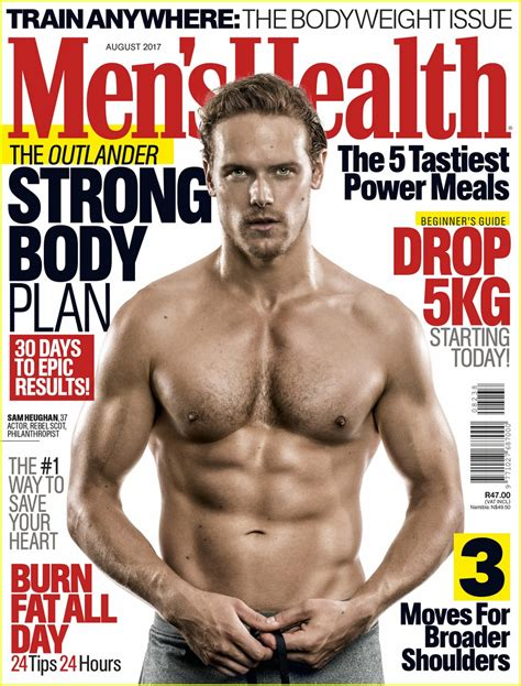 sam heughan sexy sam heughan s shirtless workout photos are so sexy photo