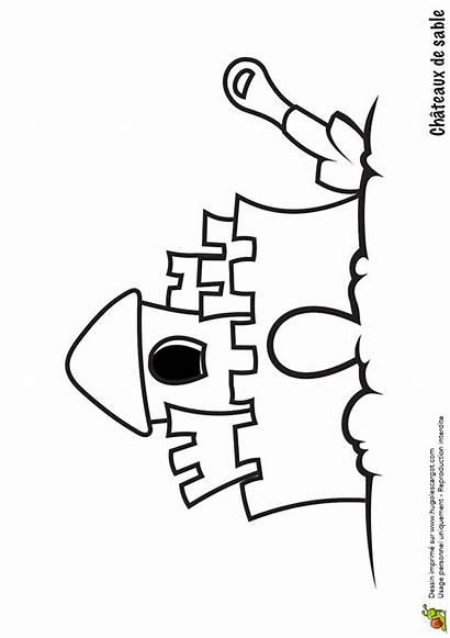 Sable Chateau Coloriage Hugolescargot Colorier Partager Imprimer