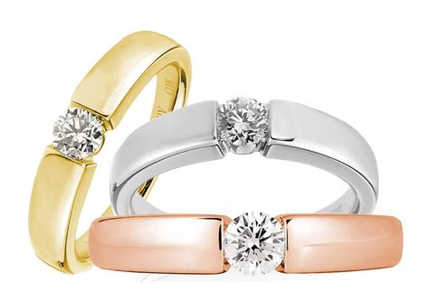 white gold yellow gold rose gold rings gems
