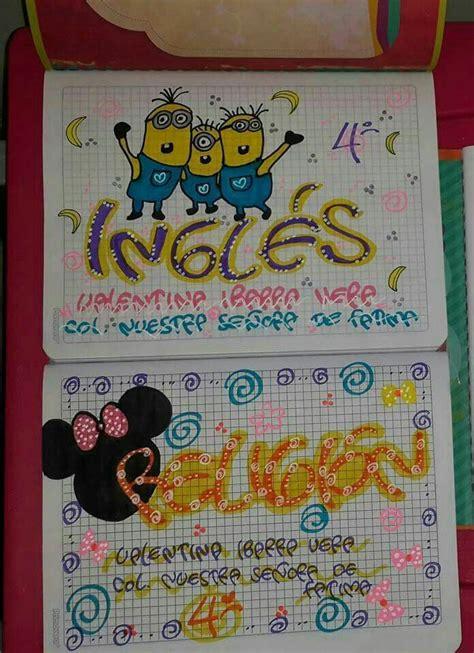 Carátulas Web decoraciones para cuaderno Decoracion de