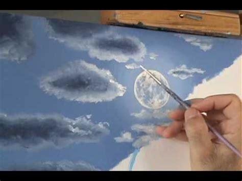 peindre la lumiere de la lune cour le 231 on de peinture acrylique sur toile