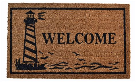 nautical doormats door mats lighthouse coir welcome mat 18 quot x 30