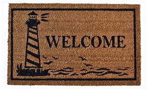 "DOOR MATS - LIGHTHOUSE COIR WELCOME MAT - 18"" X 30 ..."