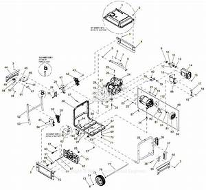 Generac 0059300  Xp6500e  Parts Diagram For Full Assembly