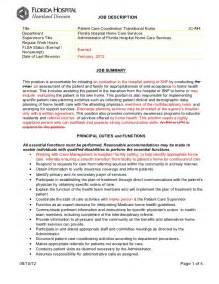 safety coordinator description sle patient care coordinator description
