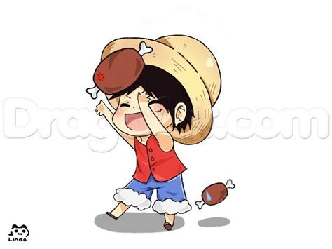Drawing A Chibi Luffy From One Piece, Added By Ruby_x