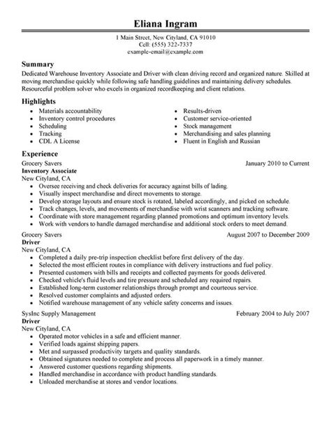 Inventory Associate And Driver Resume Examples  Free To. Resume Objective For Project Manager. Grocery Receipt. Sample Table Of Organization Template. Medical Assistant Cover Letter No Experience Template. Sample Work Schedule Template. Resume For Restaurant Worker Template. Contractor Agreement Template. Word Invoice Templates