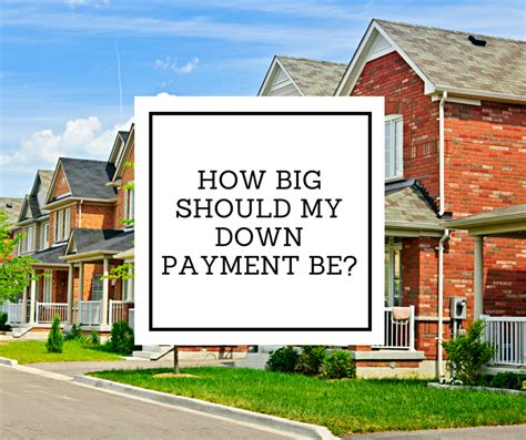 How Big Should My Down Payment Be?