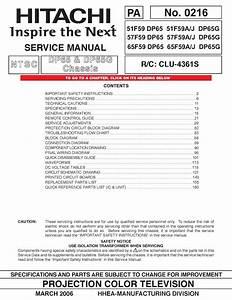 Hitachi 51f59 Manual Pdf