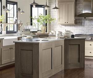 Taupe kitchen cabinets decora cabinetry for Kitchen cabinets lowes with taupe wall art