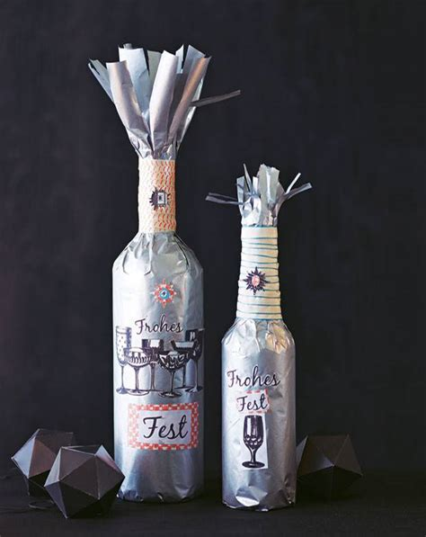 flaschen originell verpacken geschenkverpackung flaschen verpacken so geht s