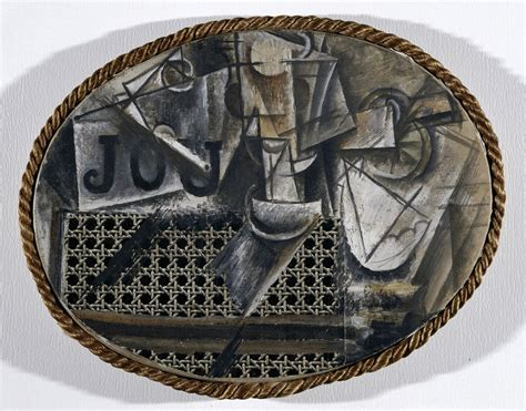 Picasso Still Chair With Caning Collage by The Birth Of Collage And Mixed Media