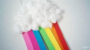 Fabriquer Un Arc : un nuage arc en ciel avec une assiette en carton ~ Nature-et-papiers.com Idées de Décoration