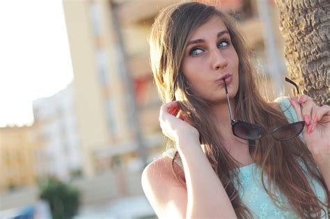 girl posing sunglasses  photo  pixabay