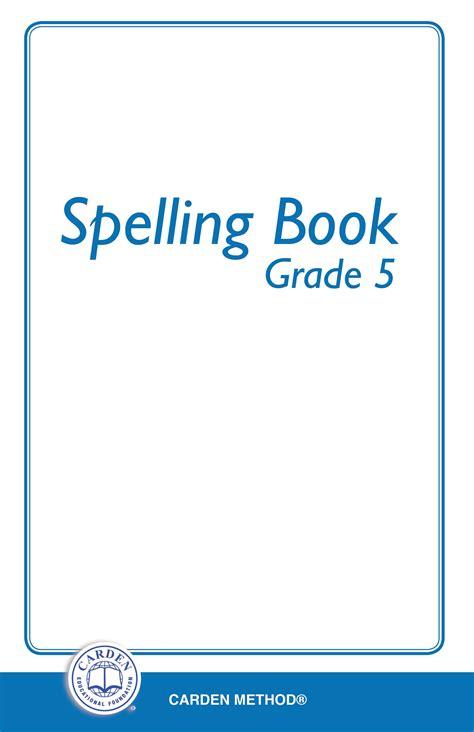Spelling Book  Grade 5