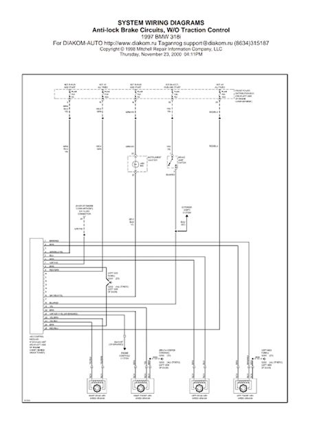 wiring diagrams and free manual ebooks 1997 bmw 318i anti lock brake circuits without traction