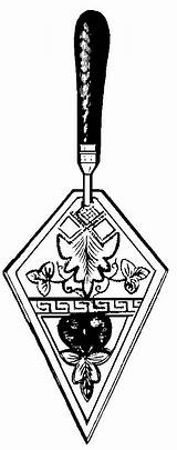 Trowel Template Coloring Pages Masonic Clip Clipart Tools Lodge Down sketch template
