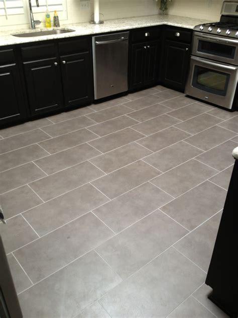 Tiled Kitchen Floor Off Set Brick Pattern   VIP Services