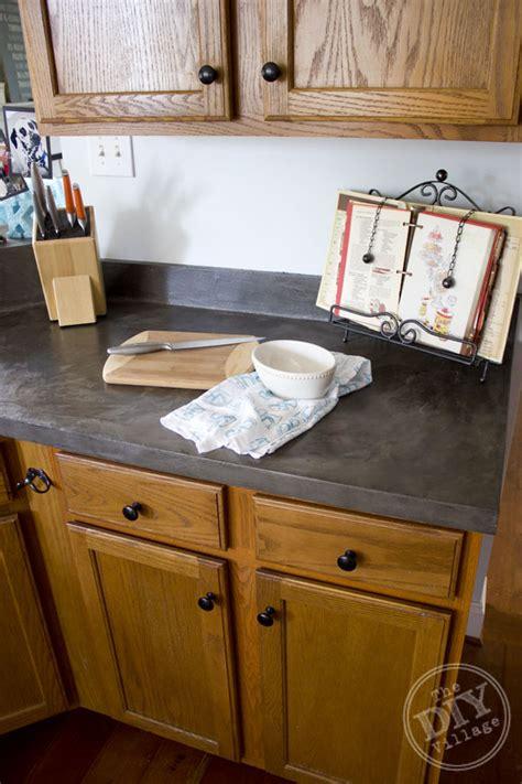 Kitchen Countertop Makeover  The Diy Village. Kitchen Set Kayu. Hickory Wood Kitchen Cabinets. Cover Your Kitchen Cupboards. Kitchen Cabinets Houston Tx