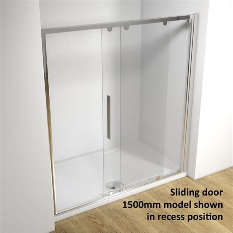 shower door frame only kudos original 3sd160s 1600mm sliding shower door silver frame