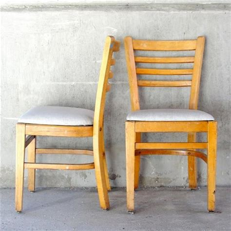 buckstaff library dining chairs set of 4 vintage